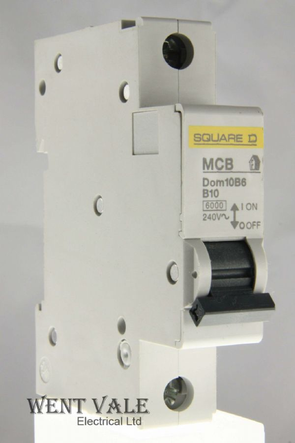 Square D Domae - DOM10B6 - 10a Type B Single Pole MCB Used